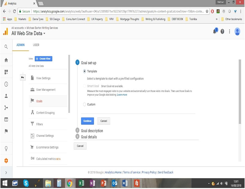 Setup Conversion Tracking in Google Analytics - Step 3